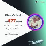 Cheap air tickets One Way Miami-Orlando from CAD $77