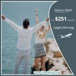 Cheap air tickets | Calgary-Winnipeg from CAD $251 Onwards