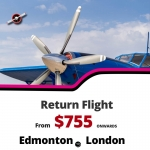 Cheap Return Flight Ticket |Edmonton-London  |$755 Onwards