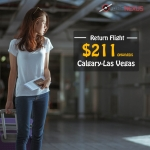 Cheap Return flight tickets | Calgary-Las Vegas | CAD $211 onwards