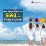 Cheap Return flight tickets | Calgary-London | CAD $693 onwards
