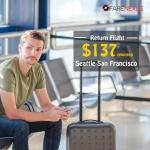 Cheap Return flight tickets | Seattle-San Francisco | CAD $137 onwards