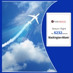 Cheap Return Flight Ticket |Washington-Miami | $232  Onwards