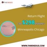cheap Return air Tickets | Minneapolis-Chicago| CAD  $298 Onwards