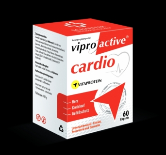 Viproactive Cardio  supports  the cardiovascular system balance and strengthen vascular protection