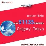 Book Return  flight Calgary- Tokyo CAD $1135