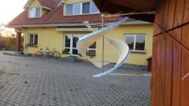 Vėjo šviestuvas, RGB LED 3.2 ilgio 50W galios valdomas distanciniu pulteliu.