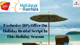 Exclusive  50% Offer On Holiday Rental Script In This Holiday Season