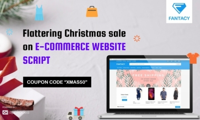 Flattering Christmas Sale 50% Off On E-Commerce Website Script