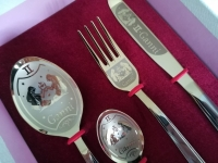 Personalized engraving cutlery set gift