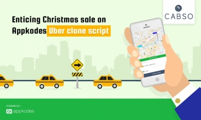Enticing Christmas sale 40% Off on Appkodes Uber clone script