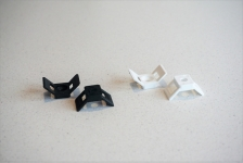 Plastic fasteners for windows, doors, cables, heat insulation.