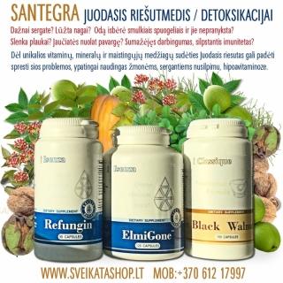 Santegra / Juodasis riesutmedis / Detoksikacija