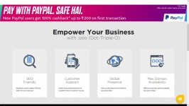 Free domain name : Buy .ooo paypal 100% cashback offer