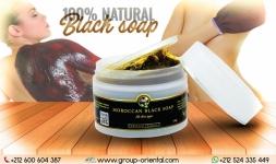 Moroccan black soap with flavor