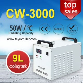 Small Water Chiller CW3000 for CNC Engraving Machine Spindle