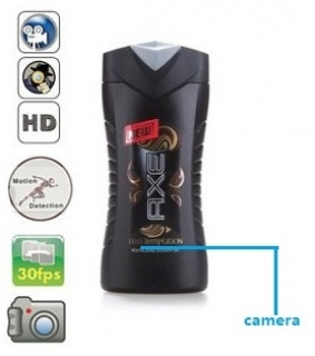 1280X960 MEN SHAMPOO BOTTLE HIDDEN CAMERA REMOTE CONTROL ON/OFF AND MOTION DETECTION RECORD 32GB