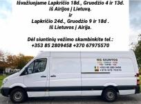 NG Siuntos Dalinių krovinių, siuntu pristatymas Airija-Lietuva-Latvija-Airija