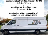 NG SIUNTINIU PERVEZIMAI Iš Lietuvos Latvijos Airijos. Klientų patogumui siuntas paimame iš pageidaujamo adreso ir pristatome į nurodytą adresą.
