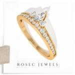 Princess Crown Diamond Wedding Ring
