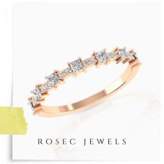 Rose Gold Wedding Eternity Ring
