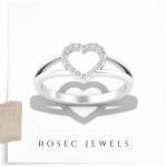 Round Diamond Heart Wedding Ring