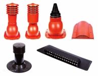 Stogo saugos ir ventiliaciniai elementai.