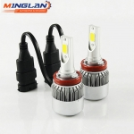 Wholesale C6 12V Vehicle LED lights, h1 h3 h11 H4 H7 9004 9005 9006 9007 auto LED headlight bulbs