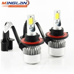 Wholesale C6 12V Vehicle LED lights, h1 h3 h11 H4 H7 9004 9005 9006 9007 auto LED headlight bulbs