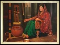 Get The Beautiful Punjabi Village Photo Frame | Sikhi Art