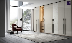 Fitted Hinged wardrobe with long handle in light grey gloss and white gloss levanto stone finish 1 (1).jpg